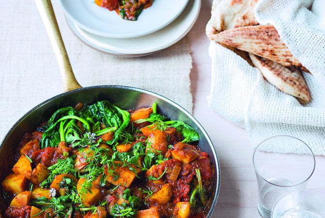 Potato & Spinach Vindaloo