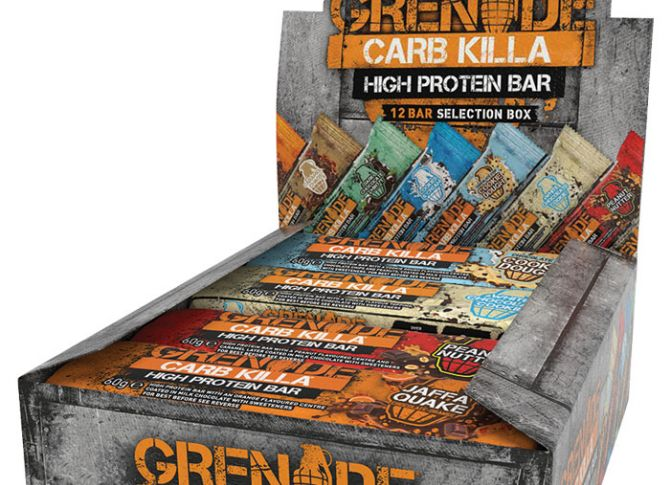 Win a selection of Grenade Carb Killa protein bars!