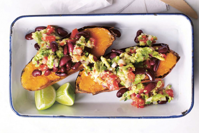 Mexican Sweet Potato Jackets with Guacamole