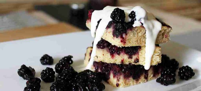 Sour Cream and Blackberry Cake
