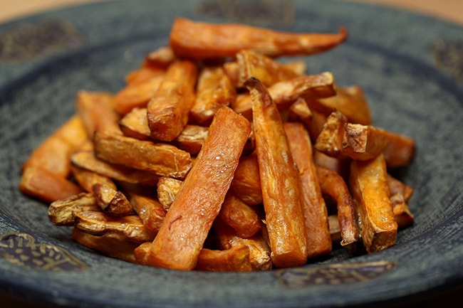 Low-calorie chunky vegetable chips