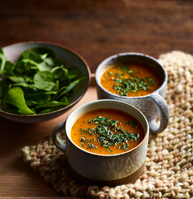 Weight Watchers spiced carrot and ginger soup