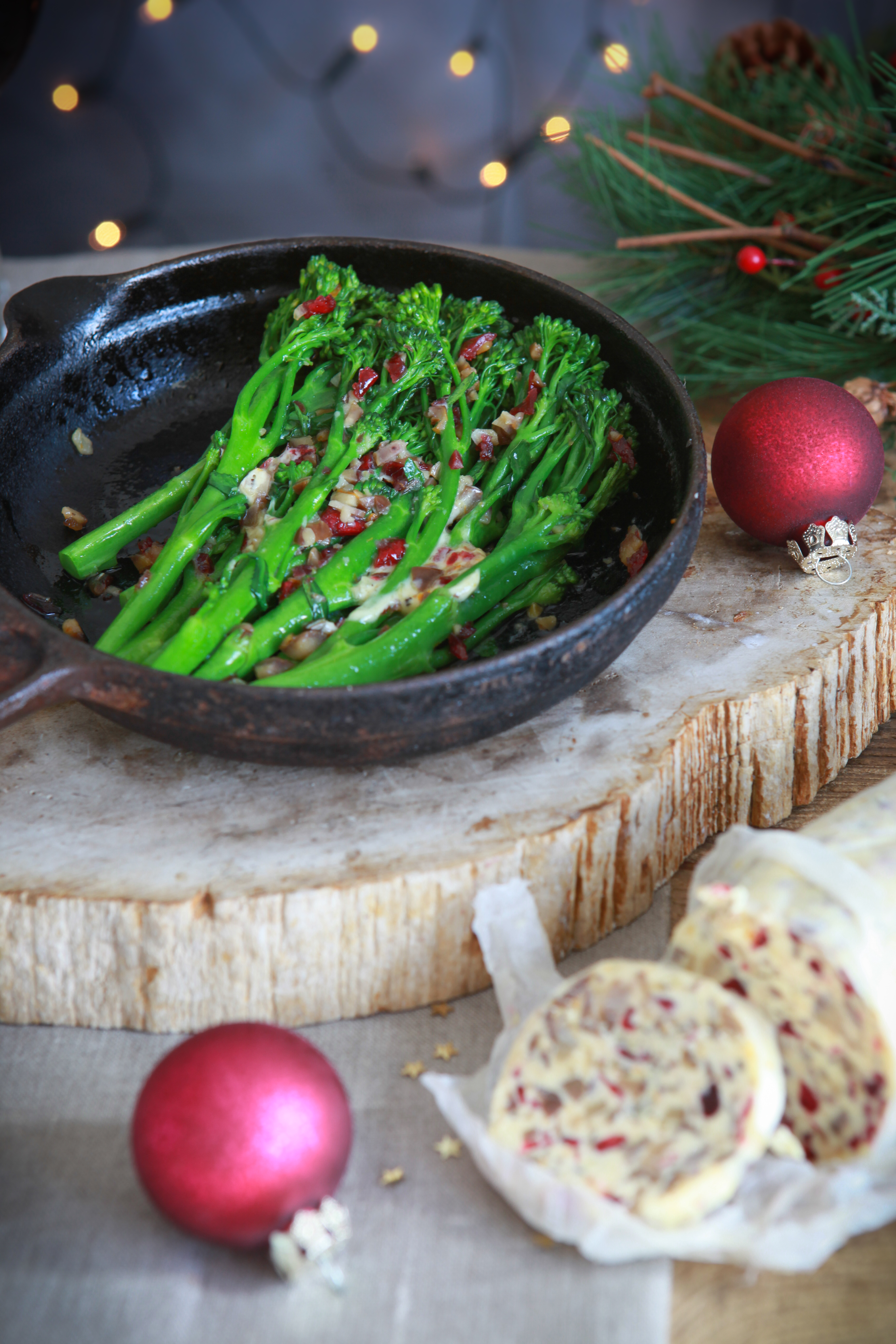 Tenderstem broccoli with Christmas butter