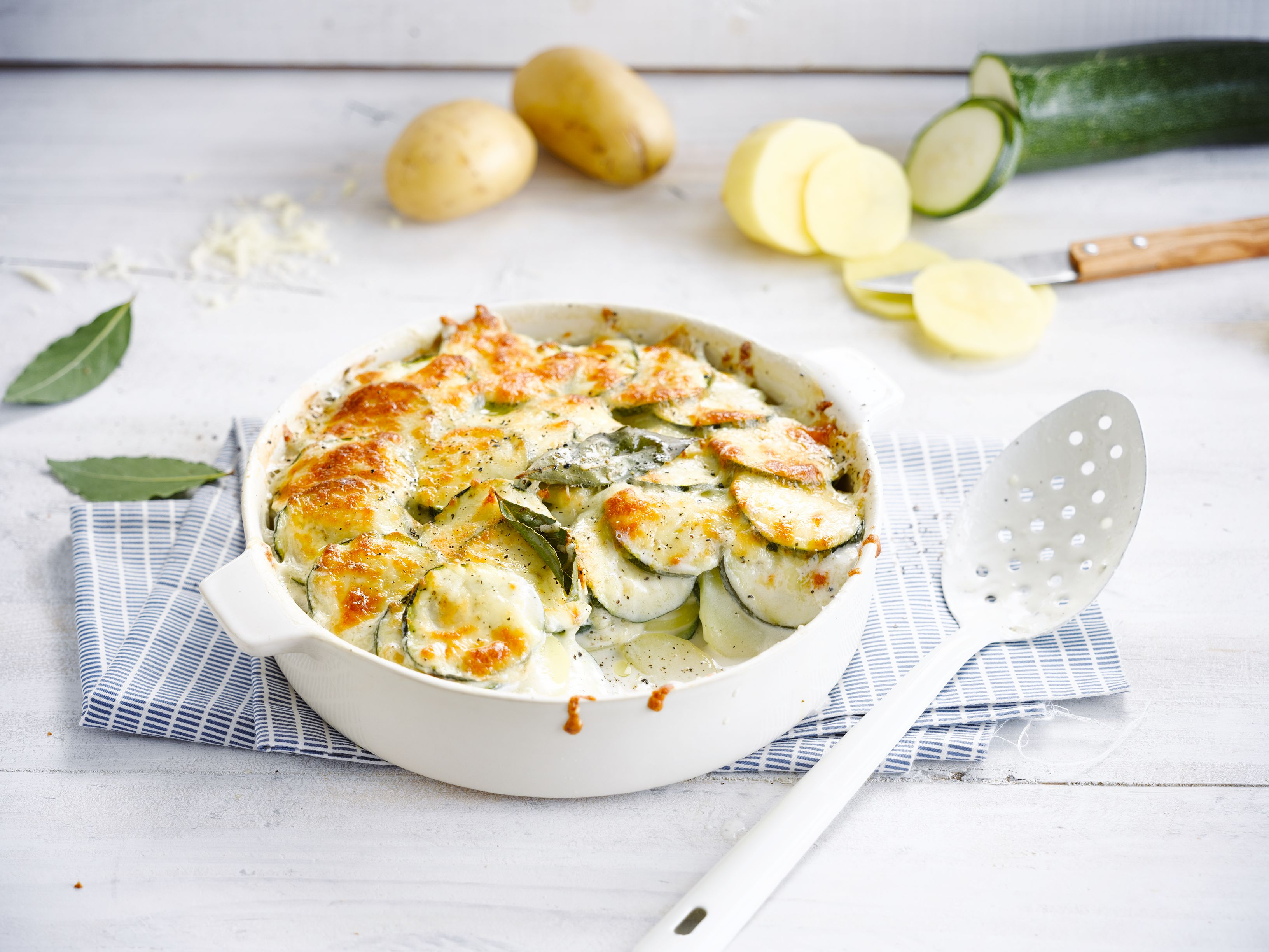 Potato and Courgette Dauphinoise