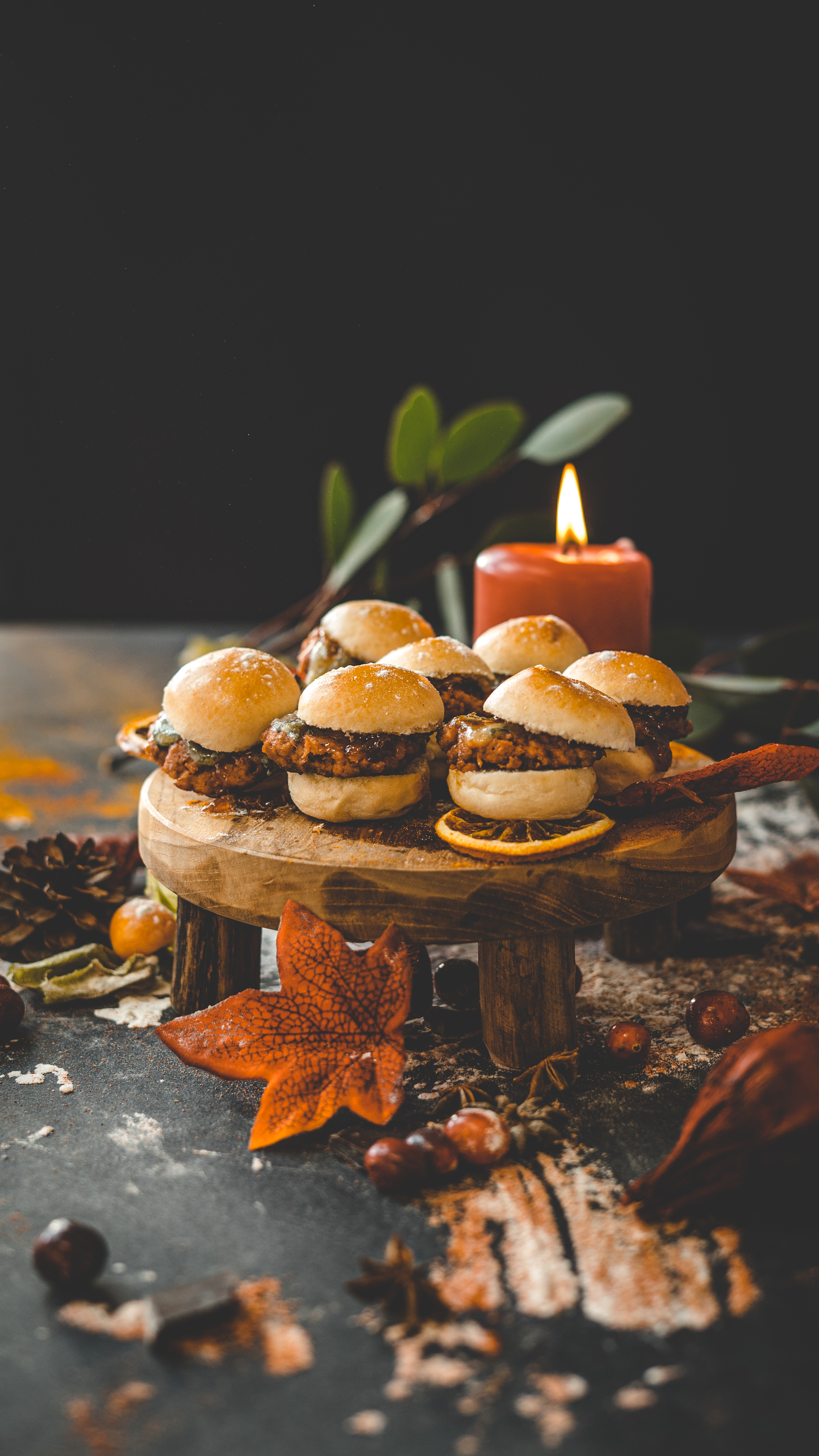 Burger Sliders with Stilton & Red Onion