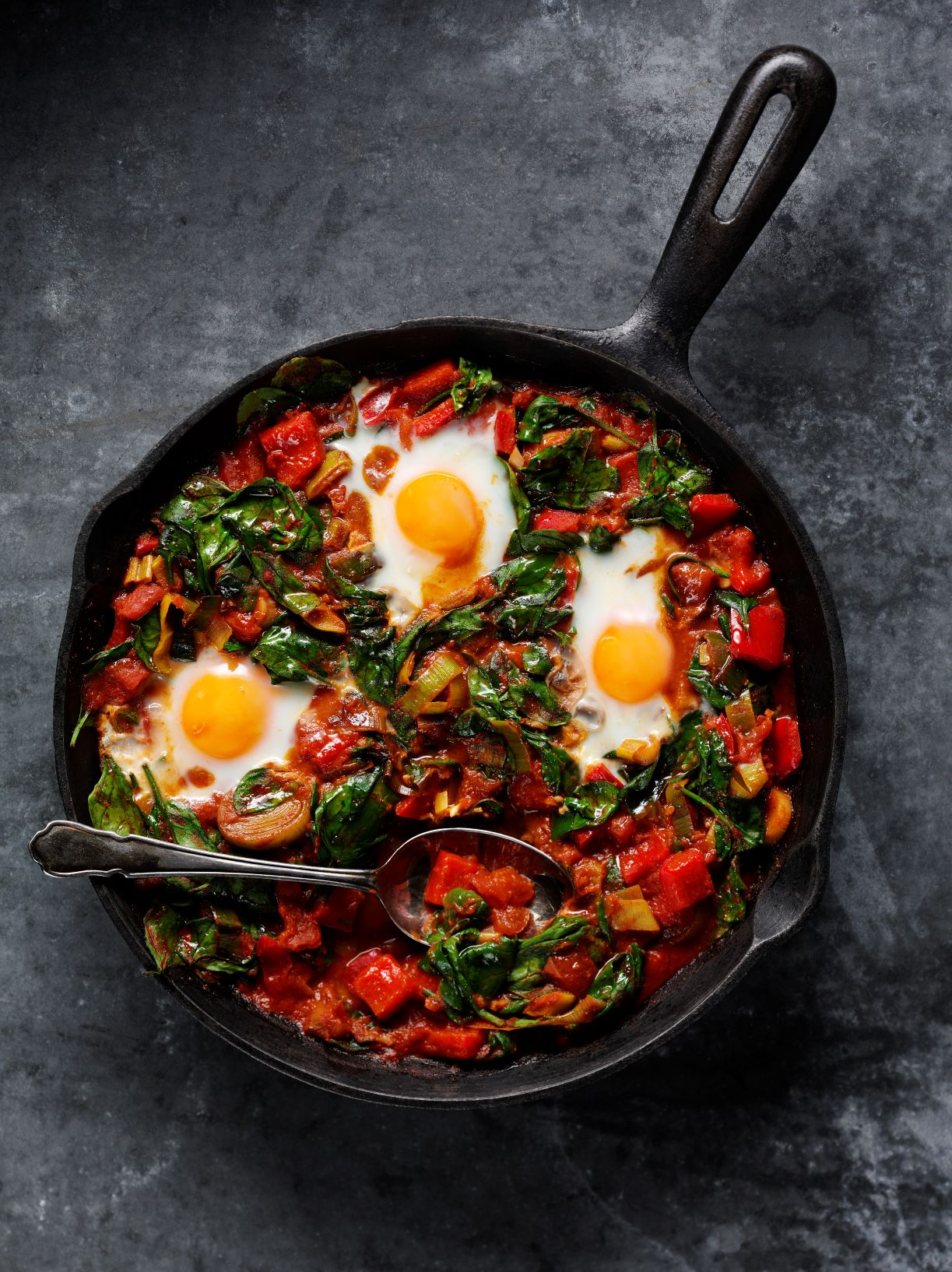 Breakfast Spinach Shakshuka